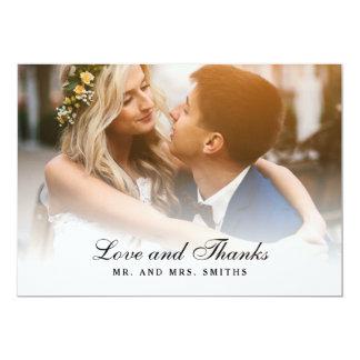Amour et mercis de carte photo de Merci de mariage Carton D'invitation 12,7 Cm X 17,78 Cm