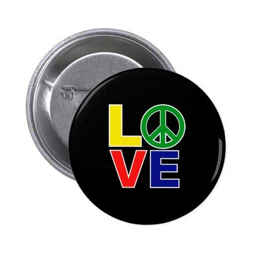 amour et paix badges avec agrafe