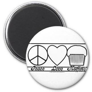 Amour et petits pains de paix magnets pour réfrigérateur