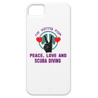 Amour et plongée à l'air de paix. coques Case-Mate iPhone 5