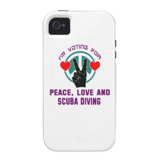 Amour et plongée à l'air de paix. iPhone 4 case