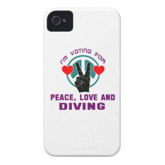 Amour et plongée de paix coque iPhone 4