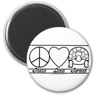 Amour et tortues de paix aimant pour réfrigérateur
