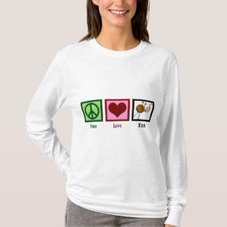Amour et tricot de paix t-shirt