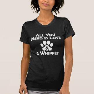 Amour et un whippet t-shirt