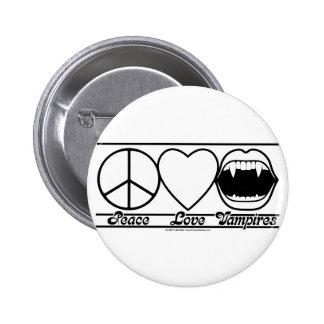 Amour et vampires de paix badges