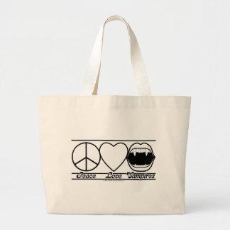 Amour et vampires de paix grand sac