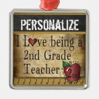 Amour étant un 2ème professeur de catégorie ornement carré argenté