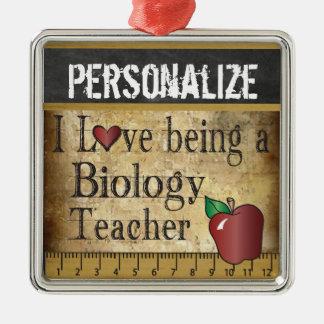 Amour étant un cru du professeur de biologie | ornement carré argenté