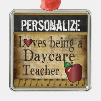 Amour étant un cru du professeur | de garde ornement carré argenté