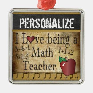 Amour étant un cru du professeur de maths | ornement carré argenté