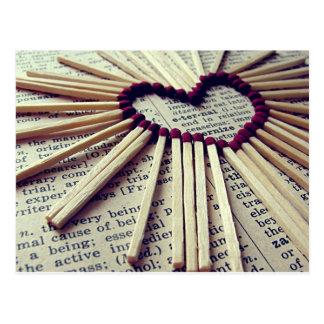Amour éternel de coeur cartes postales