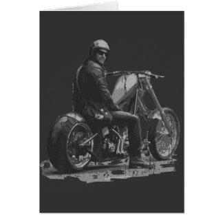Amour fait sur commande de couperet de moto carte de vœux