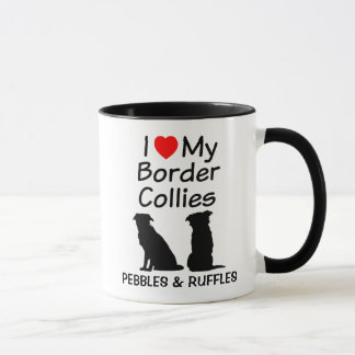 Amour fait sur commande ma tasse de deux chiens de