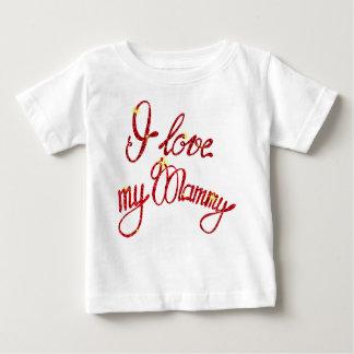 Amour fin du T-shirt I du Jersey de bébé ma maman