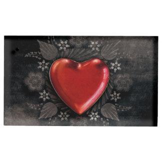 Amour floral romantique de Valentine de coeur Porte-photo