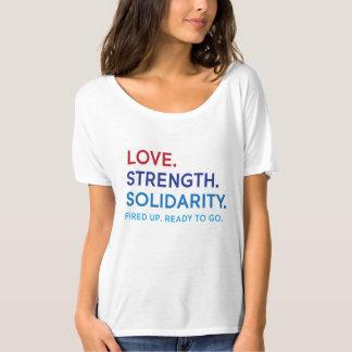 Amour, force, T-shirt Slouchy de solidarité