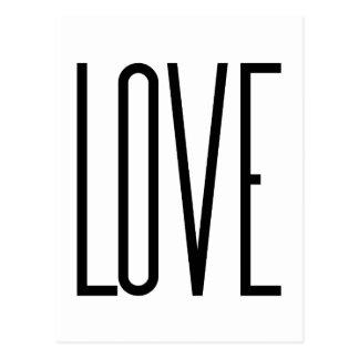 Amour frais - conception graphique minimaliste carte postale