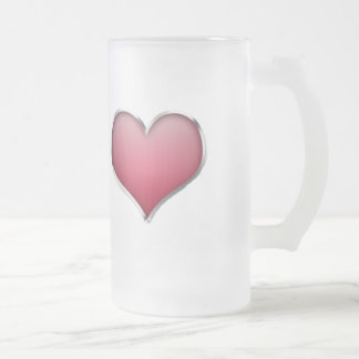 amour frosted glass beer mug