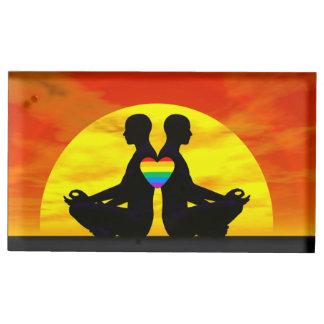 Amour gai de yoga - 3D rendent Porte-photo