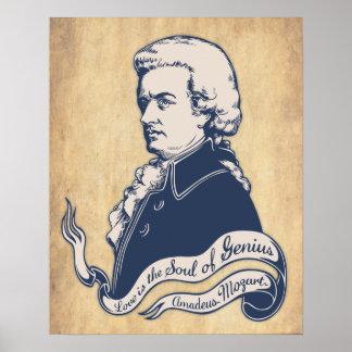 Amour = génie - Mozart Posters