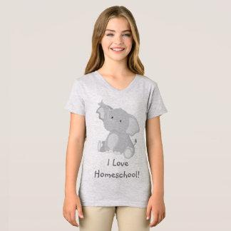 Amour Homeschool d'éléphant T-shirt
