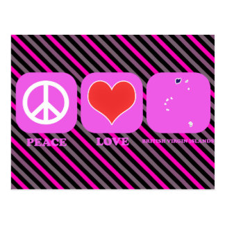 Amour Îles Vierges britanniques de paix Cartes Postales