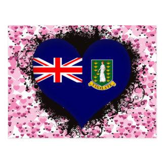 Amour Îles Vierges britanniques du cru I Carte Postale
