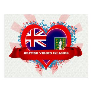 Amour Îles Vierges britanniques du cru I Cartes Postales