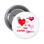 Amour international badge rond 5 cm