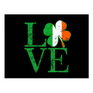 Amour irlandais pour le st patrick cartes postales