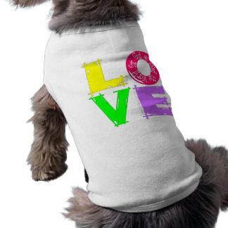 Amour john316 t-shirt pour chien