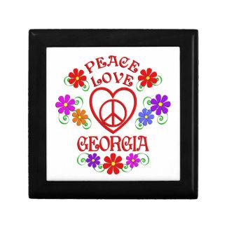 Amour la Géorgie de paix Boîte À Souvenirs