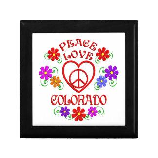 Amour le Colorado de paix Boîte À Souvenirs