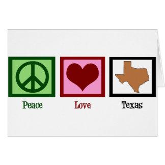 Amour le Texas de paix Carte De Vœux