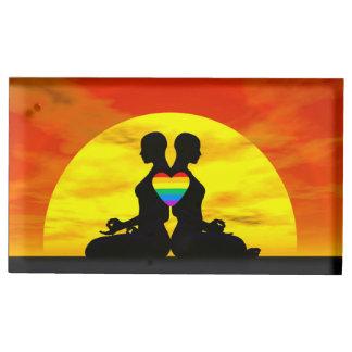 Amour lesbien de yoga - 3D rendent Porte-photo