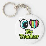Amour lumineux du coeur I d'oeil mon professeur Porte-clef