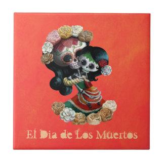 Amour maternel squelettique mexicain petit carreau carré