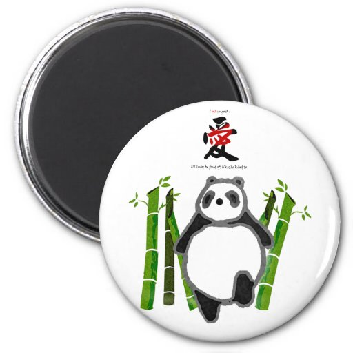 Amour mignon de dessin d'encre de panda magnets