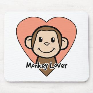 Amour mignon de singe de sourire de clipart tapis de souris