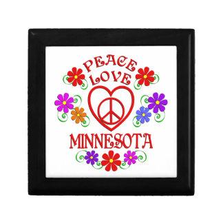 Amour Minnesota de paix Boîte À Souvenirs