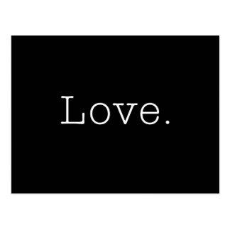 Amour. Modèle noir et blanc de citation d'amour Carte Postale