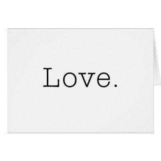 Amour. Modèle noir et blanc de citation d'amour Cartes