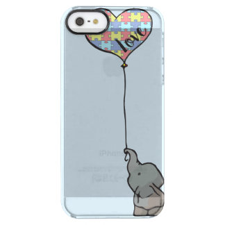 Amour - morceau de puzzle - éléphant - cas de coque iPhone clear SE/5/5s