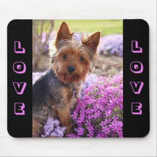 Amour Mousepad de chiot de Yorkshire Terrier Tapis De Souris