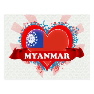 Amour Myanmar du cru I Carte Postale