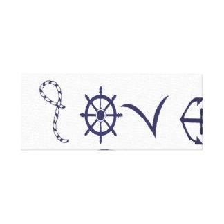 Amour nautique, marin toile