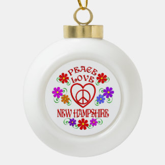 Amour New Hampshire de paix Boule En Céramique