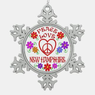 Amour New Hampshire de paix Ornement Flocon De Neige