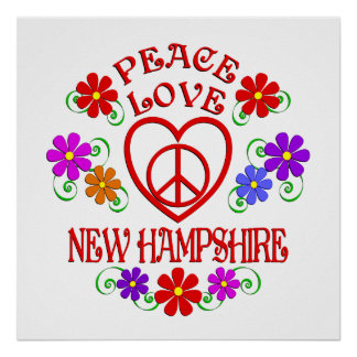 Amour New Hampshire de paix Poster